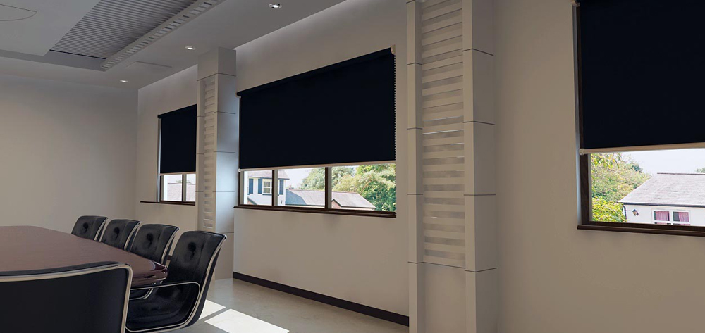 Blackout Roller Blinds Motorised Roller Blinds Office